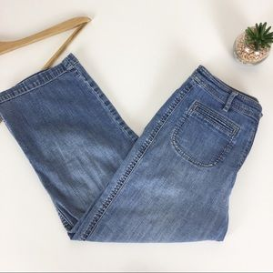 Chico's Jean Capri Cropped Pants